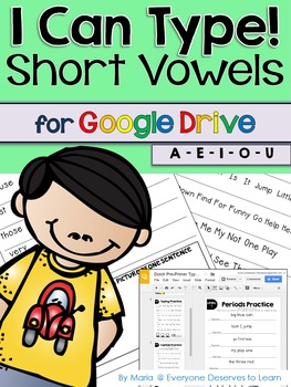 Short Vowels Typing Practice for Google Drive