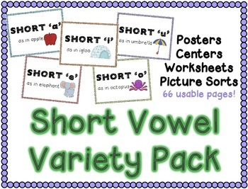 Short Vowels Variety Pack