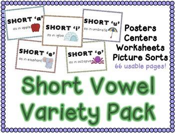 Short Vowels Variety Pack