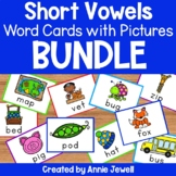 Short Vowels Word Cards with Pictures BUNDLE - Flashcards