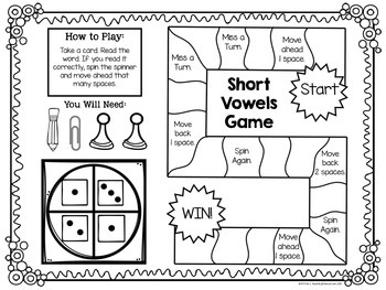 Short Vowels Word Families Bundle