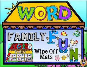Short Vowels Word Families House Fun Wipe Off Mats
