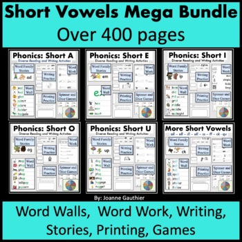 Short Vowels Word Families Mega Bundle: Phonics and Writing Fundamentals