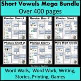 Short Vowels Word Families Mega Bundle: Phonics, Spelling and Writing