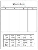 Short Vowels- Word Sorts (A, E, I, O, U)