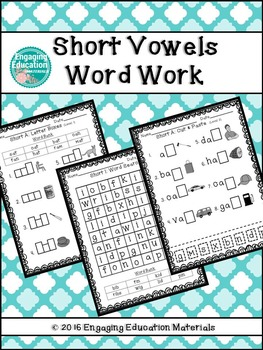 Short Vowels Word Work