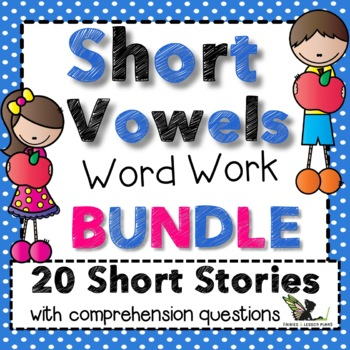 Short Vowels Word Work Bundle
