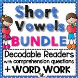 Short Vowel Word Families Bundle - Word Work with Short Stories
