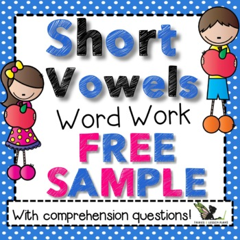 Short Vowels Word Work Bundle Free Sample