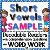Short Vowels Word Work Free Sample