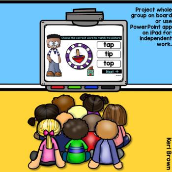 Short Vowels Word Work Digital Center - Click Click Go!