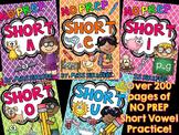 Short Vowels Activities and Worksheets No Prep BUNDLE (A E I O U)