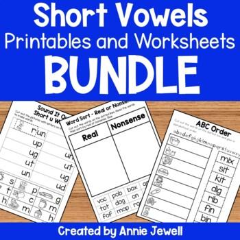 Short Vowels Word Work Printables BUNDLE