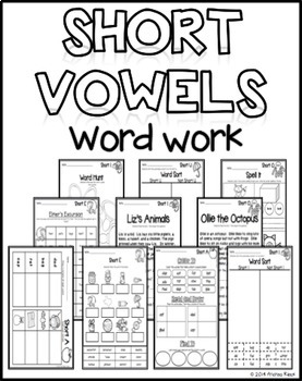 Short Vowels Word Work Printables DIFFERENTIATED