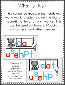 Short Vowels Digital Word Work (CVC Words & Medial Sounds)