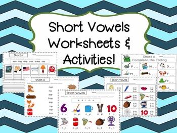Short Vowels Worksheets & Activity