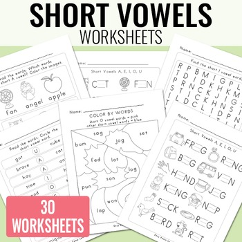 Long And Short Vowel Worksheets Teaching Resources Teachers Pay