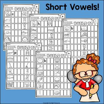 Short Vowels Worksheets and Activities Bundle -  Phonics