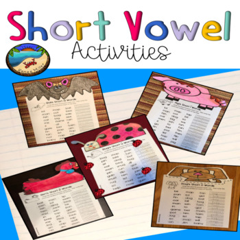 Phonics Worksheets First Grade Bundle And Crafts By Renee Miller