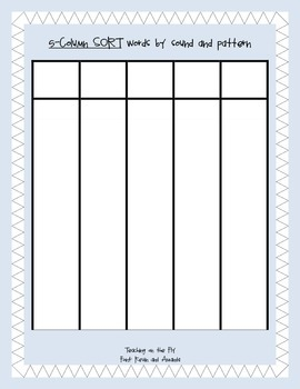 Short Vowels (a, e, i, o, u) Word Sort Packet