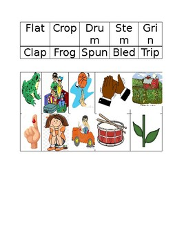 Short Vowels and Short Vowels with blends picture sort