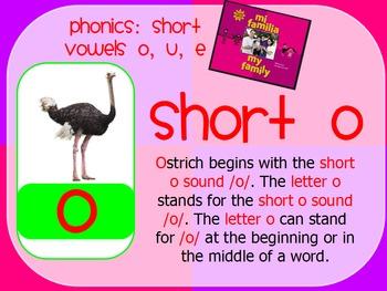 Short Vowels e, o, u