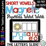 Digital Word Work - Short Vowel Activities for Google Use (CVC & Medial Sounds)
