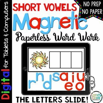 Digital Word Work - ‪Short Vowel Activities for Google Use (CVC & Medial Sounds)