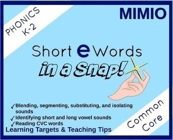Short Vowels in a Snap Bundle