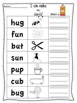 Short Vowels-make new words