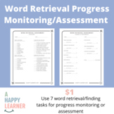 Short Word Retrieval Activities for Speech Therapy