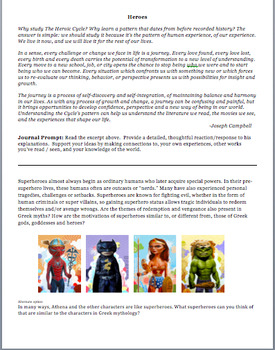 Short Writing Assignments- Greek Mythology, Heroes, and Trojan War