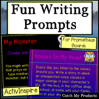 Fun Short Writing Prompts for Promethean Board with Examples