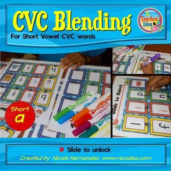 CVC Blending Cards - iSlides {Short a}