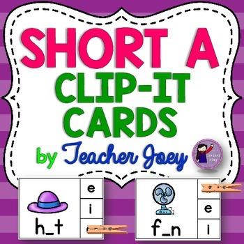 Short a clip cards