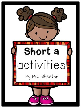 First Grade Phonics: Short a Games