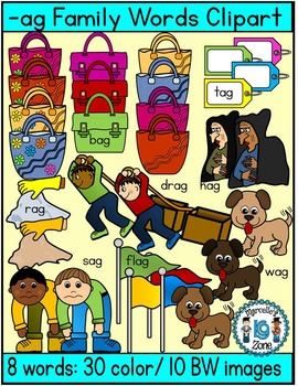 Short vowel a clipart- Ag Words Clipart  (8 words- 40 images)