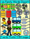 Short vowel a clipart- An Words Clipart (7 words- 30 image)