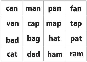 """Bingo: Short """"a"""" Words"""