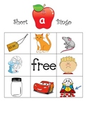 Short a Bingo with cvc decoding picture word cards- Great
