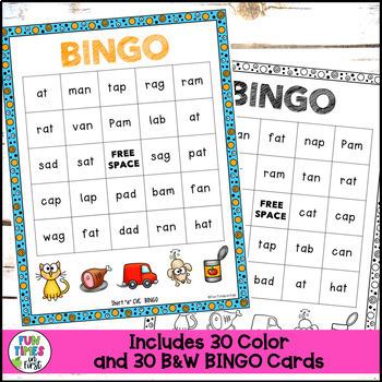 "Short Vowels Game:  Short ""a"" CVC BINGO"