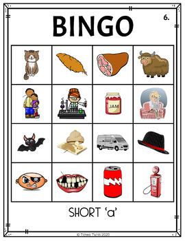 Short 'a' CVC Bingo -- 4x4 Grid