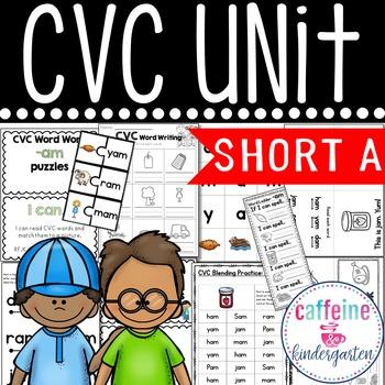 Short a CVC MEGA UNIT Word Work and Interventions