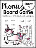 Short a (CVC) PHONICS BOARD Game