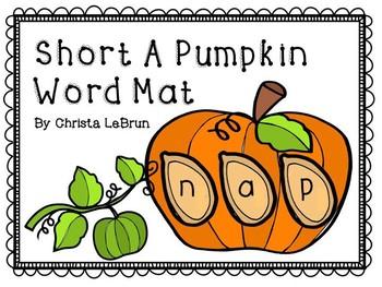 Short a CVC Pumpkin Word Mat
