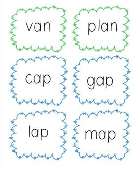 Short 'a' CVC Word Cards