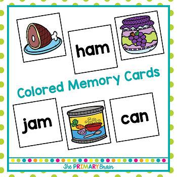 Short a CVC Word Memory Match Game