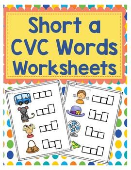 Short a CVC Word Worksheets