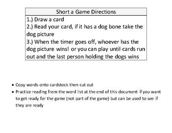 Short a CVC game
