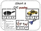 Short a, CVC puzzle pack